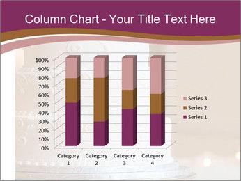 A multi level white wedding cake PowerPoint Template - Slide 50