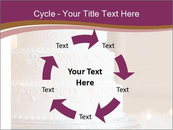 A multi level white wedding cake PowerPoint Template - Slide 62