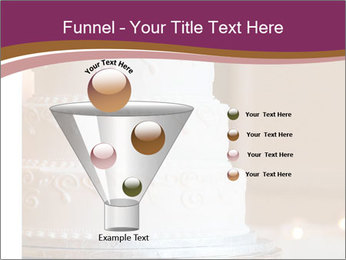 A multi level white wedding cake PowerPoint Template - Slide 63