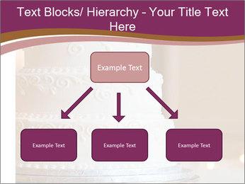 A multi level white wedding cake PowerPoint Template - Slide 69
