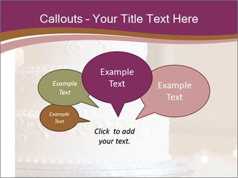 A multi level white wedding cake PowerPoint Template - Slide 73