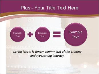 A multi level white wedding cake PowerPoint Template - Slide 75