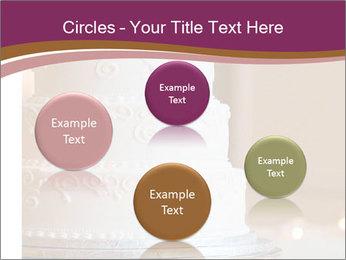 A multi level white wedding cake PowerPoint Template - Slide 77