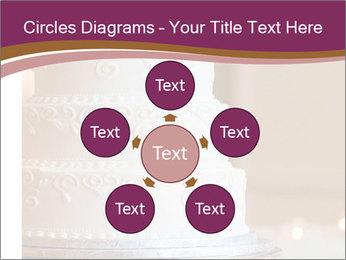A multi level white wedding cake PowerPoint Template - Slide 78