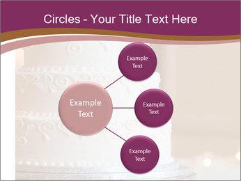 A multi level white wedding cake PowerPoint Template - Slide 79