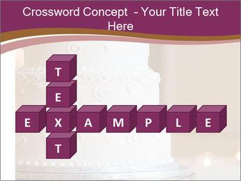 A multi level white wedding cake PowerPoint Template - Slide 82