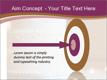 A multi level white wedding cake PowerPoint Template - Slide 83