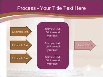 A multi level white wedding cake PowerPoint Template - Slide 85