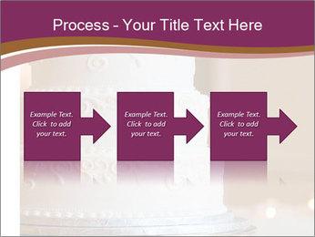 A multi level white wedding cake PowerPoint Template - Slide 88