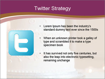 A multi level white wedding cake PowerPoint Template - Slide 9