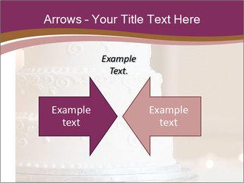 A multi level white wedding cake PowerPoint Template - Slide 90