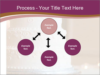 A multi level white wedding cake PowerPoint Template - Slide 91