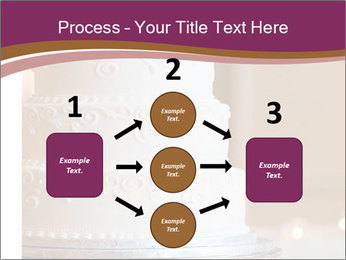A multi level white wedding cake PowerPoint Template - Slide 92