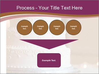 A multi level white wedding cake PowerPoint Template - Slide 93