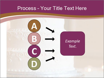 A multi level white wedding cake PowerPoint Template - Slide 94