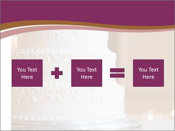 A multi level white wedding cake PowerPoint Template - Slide 95