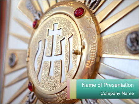 Catholic tabernacle PowerPoint Template