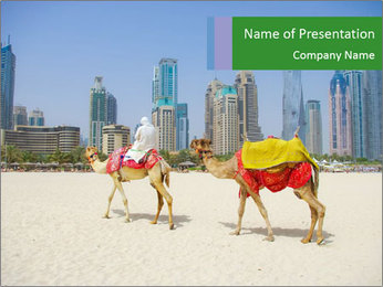 Dubai Camel PowerPoint Template - Slide 1