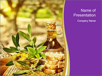 Olives still life PowerPoint Template - Slide 1