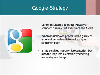 Holding smart phone PowerPoint Template - Slide 10
