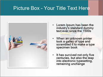 Holding smart phone PowerPoint Template - Slide 13