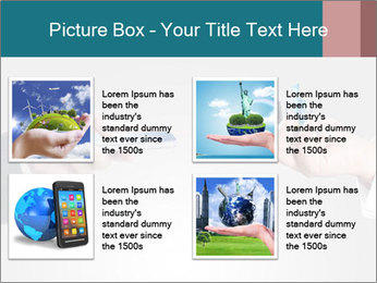 Holding smart phone PowerPoint Template - Slide 14