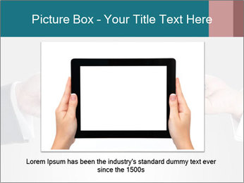 Holding smart phone PowerPoint Template - Slide 15