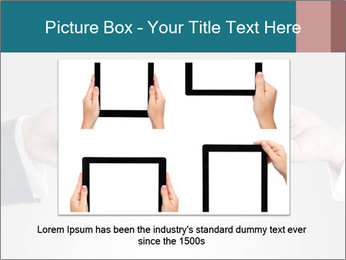 Holding smart phone PowerPoint Template - Slide 16