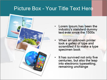 Holding smart phone PowerPoint Template - Slide 17