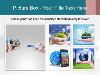 Holding smart phone PowerPoint Template - Slide 19