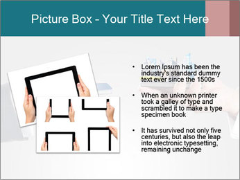 Holding smart phone PowerPoint Template - Slide 20