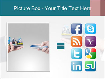 Holding smart phone PowerPoint Template - Slide 21