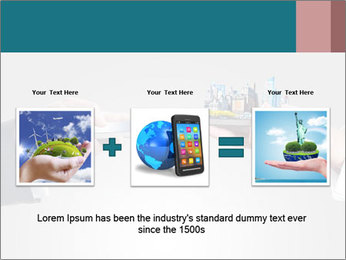 Holding smart phone PowerPoint Template - Slide 22