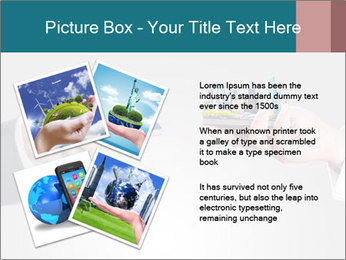 Holding smart phone PowerPoint Template - Slide 23