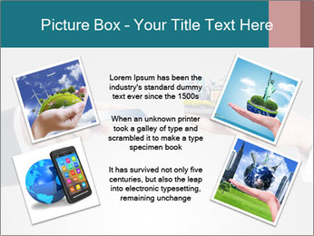 Holding smart phone PowerPoint Template - Slide 24