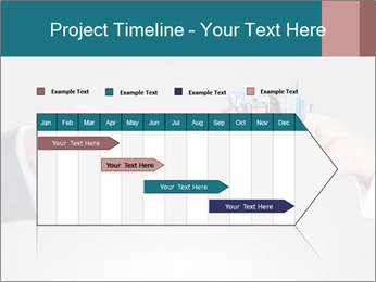 Holding smart phone PowerPoint Template - Slide 25