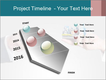Holding smart phone PowerPoint Template - Slide 26