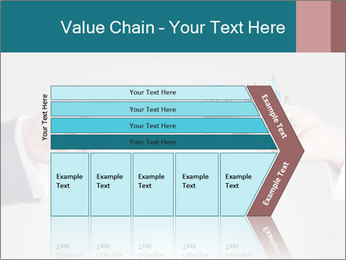 Holding smart phone PowerPoint Template - Slide 27