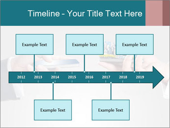 Holding smart phone PowerPoint Template - Slide 28
