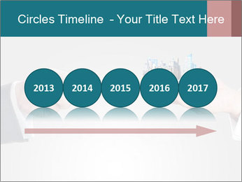 Holding smart phone PowerPoint Template - Slide 29