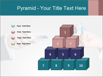 Holding smart phone PowerPoint Template - Slide 31