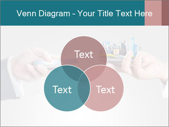 Holding smart phone PowerPoint Template - Slide 33