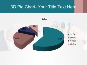 Holding smart phone PowerPoint Template - Slide 35