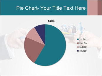 Holding smart phone PowerPoint Template - Slide 36