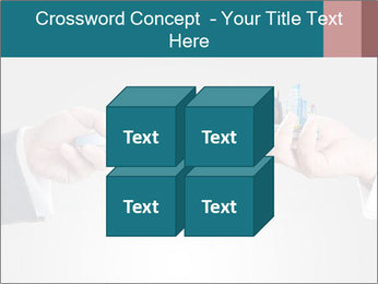 Holding smart phone PowerPoint Template - Slide 39