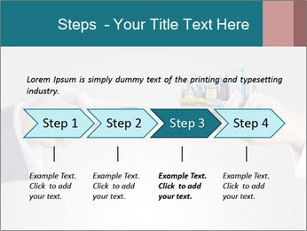 Holding smart phone PowerPoint Template - Slide 4