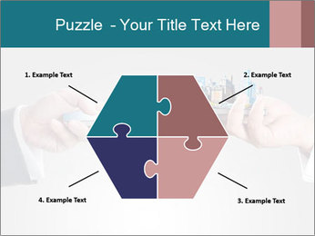 Holding smart phone PowerPoint Template - Slide 40
