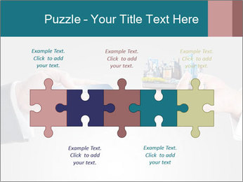 Holding smart phone PowerPoint Template - Slide 41