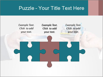 Holding smart phone PowerPoint Template - Slide 42