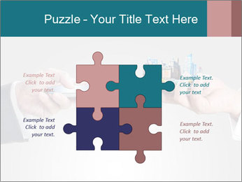 Holding smart phone PowerPoint Template - Slide 43